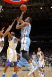 Denver Nuggets v Golden State Warriors: Gary Forbes Photographic Print by Rocky Widner