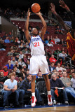 Cleveland Cavaliers v Philadelphia 76ers: Thaddeus Young and J.J. Hickson Photographic Print by Jesse D. Garrabrant
