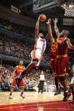 Miami Heat v Cleveland Cavaliers: LeBron James, Antawn Jamison and Jamario Moon Photographic Print by Nathaniel S. Butler