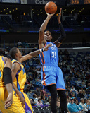 Oklahoma City Thunder v New Orleans Hornets: Kevin Durant and Trevor Ariza Photographic Print by Layne Murdoch