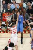 Oklahoma City Thunder v Houston Rockets: Jeff Green and Brad Miller Photographic Print by Bill Baptist