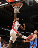 Oklahoma City Thunder v Toronto Raptors: AmirJohnson and NenadKristic Photographic Print by Ron Turenne
