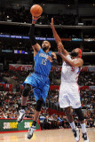 Orlando Magic v Los Angeles Clippers: Vince Carter and Baron Davis Photographic Print by Noah Graham