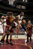 Miami Heat v Cleveland Cavaliers: Dwyane Wade and Anderson Varejao Photographic Print by David Liam Kyle
