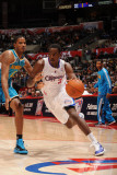 New Orleans Hornets v Los Angeles Clippers: Al-Farouq Aminu and Trevor Ariza Photographic Print by Noah Graham