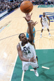 New Orleans Hornets v Utah Jazz: C.J. Miles and David West Photographic Print by Melissa Majchrzak