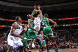 Boston Celtics v Philadelphia 76ers: Andre Iguodala, Paul Pierce and Kevin Garnett Photographic Print by Jesse D. Garrabrant