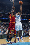 Cleveland Cavaliers v New Orleans Hornets: David West and J.J. Hickson Photographic Print by Layne Murdoch