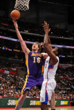 Los Angeles Lakers v Los Angeles Clippers: Pau Gasol and Al-Farouq Aminu Photographic Print by Noah Graham