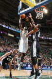 San Antonio Spurs v Utah Jazz: Al Jefferson and Tim Duncan Photographic Print by Melissa Majchrzak