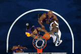 Los Angeles Lakers v Memphis Grizzlies: Zach Randolph, Lamar Odom and Matt Barnes Photographic Print by Joe Murphy