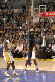 Indiana Pacers v Los Angeles Lakers: Solomon Jones Photographic Print by Andrew Bernstein
