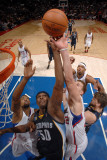 Memphis Grizzlies v Los Angeles Clippers: Zach Randolph, DeAndre Jordan and Blake Griffin Photographic Print by Noah Graham