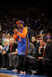 Boston Celtics v New York Knicks: Spike Lee Photographic Print by Lou Capozzola