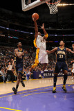 Indiana Pacers v Los Angeles Lakers: Kobe Bryant, Roy Hibbert and Danny Granger Photographic Print by Andrew Bernstein