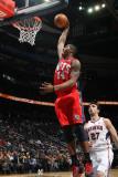 New Jersey Nets v Atlanta Hawks: Derrick Favors Photographic Print by Scott Cunningham