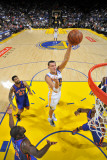 New York Knicks v Golden State Warriors: Andris Biedrins Photographic Print by Rocky Widner