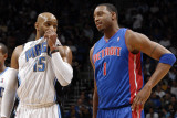 Detroit Pistons v Orlando Magic: Vince Carter and Tracy McGrady Photographic Print by Fernando Medina