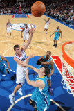 New Orleans Hornets v Philadelphia 76ers: Spencer Hawes and Jason Smith Photographic Print by David Dow