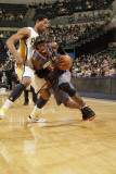 Charlotte Bobcats v Indiana Pacers: Gerald Wallace and Danny Granger Photographic Print by Ron Hoskins
