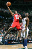 New Jersey Nets v Utah Jazz: Devin Harris and Al Jefferson Photographic Print by Melissa Majchrzak