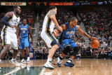Orlando Magic v Utah Jazz: Jameer Nelson and Deron Williams Photographic Print by Melissa Majchrzak