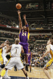 Los Angeles Lakers v Indiana Pacers: Kobe Bryant and Dahntay Jones Photographic Print by Ron Hoskins
