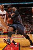 Charlotte Bobcats v Miami Heat: Stephen Jackson Photographic Print by Victor Baldizon