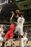 Toronto Raptors v Indiana Pacers: Linas Kleiza and James Posey Photographic Print by Ron Hoskins