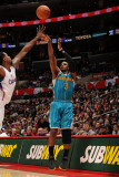 New Orleans Hornets v Los Angeles Clippers: Chris Paul and DeAndre Jordan Photographic Print by Noah Graham