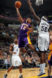 Los Angeles Lakers v Memphis Grizzlies: Shannon Brown and Zach Randolph Photographic Print by Joe Murphy