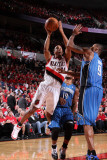 Orlando Magic v Portland Trail Blazers: Rashard Lewis and Andre Miller Photographic Print by Sam Forencich
