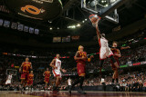 Miami Heat v Cleveland Cavaliers: Anderson Varejao, Jamario Moon and Dwyane Wade Photographic Print by David Liam Kyle