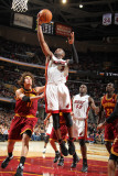 Miami Heat v Cleveland Cavaliers: Dwyane Wade and Anderson Varejao Photographic Print by Nathaniel S. Butler