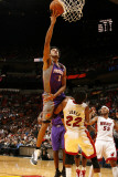 Phoenix Suns v Miami Heat: Josh Childress and James Jones Photographic Print by Issac Baldizon