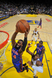 New York Knicks v Golden State Warriors: Ronny Turiaf and Jeff Adrian Photographic Print by Rocky Widner