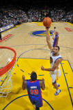 Detroit Pistons v Golden State Warriors: Dan Gadzuric Photographic Print by Rocky Widner