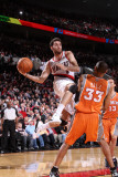 Phoenix Suns v Portland Trail Blazers: Grant Hill and Rudy Fernandez Photographic Print by Sam Forencich