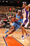 Denver Nuggets v Phoenix Suns: Al Harrington and Grant Hill Photographic Print by Barry Gossage