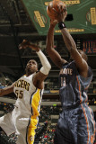 Charlotte Bobcats v Indiana Pacers: Roy Hibbert and Nazr Mohammed Photographic Print by Ron Hoskins