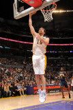 Indiana Pacers v Los Angeles Lakers: Pau Gasol Photographic Print by Andrew Bernstein