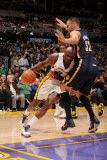 Utah Jazz v Los Angeles Clippers: Lamar Odom and Josh McRoberts Photographic Print by Noah Graham