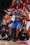Orlando Magic v Portland Trail Blazers: Marcus Camby and Dwight Howard Photographic Print by Sam Forencich