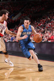 Orlando Magic v Portland Trail Blazers: Rudy Fernandez and J.J. Redick Photographic Print by Sam Forencich