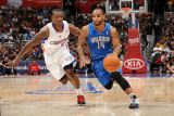 Orlando Magic v Los Angeles Clippers: Jameer Nelson and Eric Bledsoe Photographic Print by Noah Graham