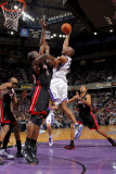 Miami Heat v Sacramento Kings: Carl Landry Photographic Print by Rocky Widner