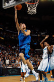 Dallas Mavericks v New Orleans Hornets: Dirk Nowitzki and Trevor Ariza Photographic Print by Chris Graythen