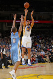 Denver Nuggets v Golden State Warriors: Dan Gazuric and Arron Afflalo Photographic Print by Rocky Widner