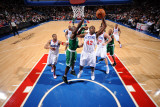 Boston Celtics v Philadelphia 76ers: Elton Brand and Kevin Garnett Photographic Print by Jesse D. Garrabrant