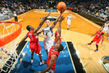 Los Angeles Clippers v Minnesota Timberwolves: Michael Beasley and Al-Farouq Aminu Photographic Print by David Sherman